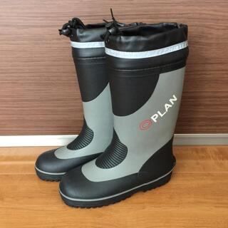 長靴 グレー 黒 24cm(長靴/レインシューズ)