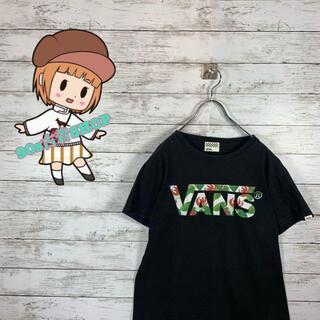 バンズボルト(VANS VAULT)の【人気】バンズ Tシャツ プリントロゴ デカロゴ 花柄 ネイビー(Tシャツ/カットソー(半袖/袖なし))