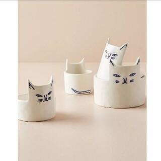 アンソロポロジー(Anthropologie)のアンソロポロジー×ケイブレグヴァード 猫のメジャーカップ♡(調理道具/製菓道具)
