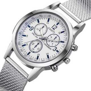 新品 クロノグラフ デュアル GAIETY 腕時計メンズ ラグジュアリー(腕時計(アナログ))