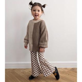 Caramel baby&child  - mediam kids Checkered Bell Bottoms【新品】