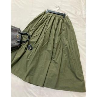 ストロベリーフィールズ(STRAWBERRY-FIELDS)の美品 ストロベリーフィールズ ロング スカート カーキ(ロングスカート)