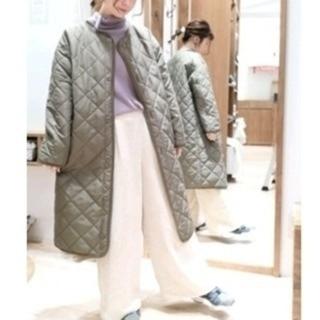 SM2 - 【今期・新品】 サマンサモスモス ブルー キルト ロングコート  カーキ