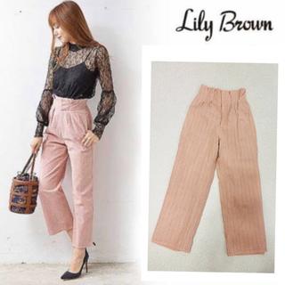 Lily Brown - リリーブラウン コットンレースワイドパンツ