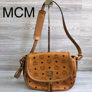 MCM - MCM エムシーエム ショルダーバッグ サイドバック レザー 総柄ロゴ