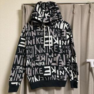 NIKE - NIKE パーカー 総柄 黒 2XL