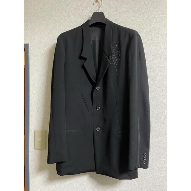 Yohji Yamamoto(ヨウジヤマモト)のYohji Yamamoto  18AW 蜘蛛の巣セットアップ メンズのスーツ(セットアップ)の商品写真