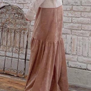 リゼクシー(RESEXXY)のスエードタッチ切替スカート(ロングスカート)