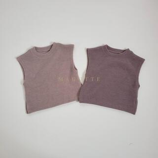 petit main - クッキーニットベスト 韓国子供服magutte 80cm