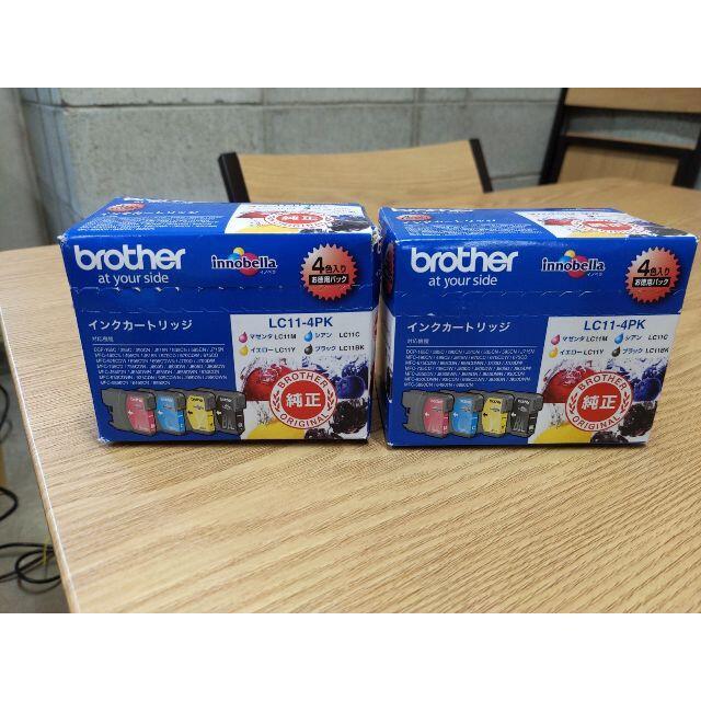 brother(ブラザー)のbrother 純正インクカートリッジ4色パック LC11-4PK 7個セット スマホ/家電/カメラのPC/タブレット(PC周辺機器)の商品写真