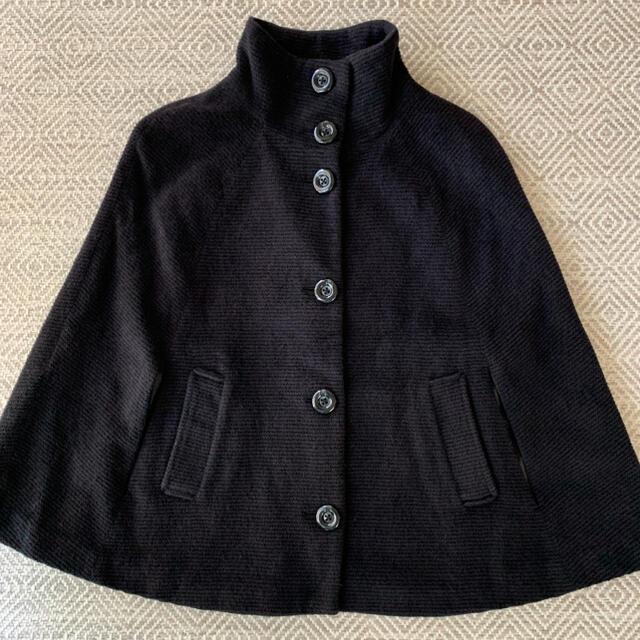 UNITED ARROWS(ユナイテッドアローズ)のアローズ 紺ニットポンチョ 大人コーデ♧ レディースのジャケット/アウター(ポンチョ)の商品写真