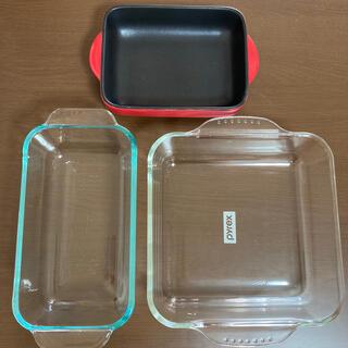 パイレックス(Pyrex)のPyrex 耐熱ガラスセット+ニトリグラタン皿(食器)