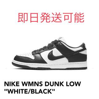 ナイキ(NIKE)のNIKE WMNS DUNK LOW  WHITE/ BLACK 26cm(スニーカー)