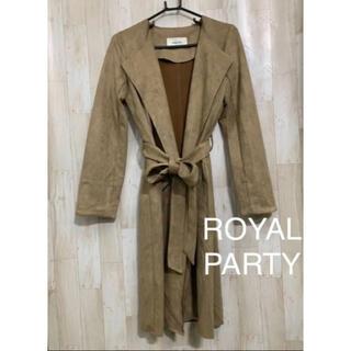 ロイヤルパーティー(ROYAL PARTY)の美品 ロイヤルパーティー フェイクスウェードコート(ロングコート)