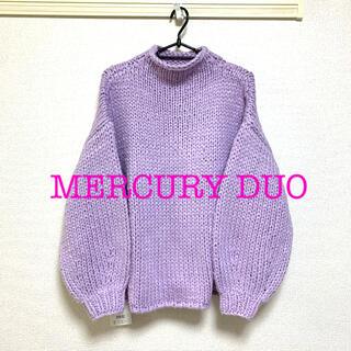 MERCURYDUO - MERCURY DUO ハイネックパフスリーブニット セーター
