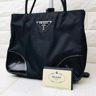 PRADA - ☆特別価格☆PRADA プラダ トートバッグ ナイロン×レザー ブラック