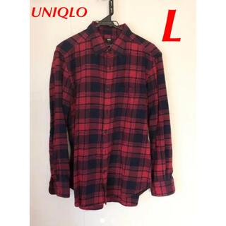 UNIQLO - UNIQLO ギンガムチェックシャツ ネルシャツ L  送料込み