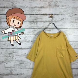 チャンピオン(Champion)の【大人気】チャンピオン Tシャツ ポケT 刺繍ロゴ ビックサイズ オーバーサイズ(Tシャツ/カットソー(半袖/袖なし))