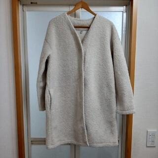 UNIQLO - ユニクロ モコモコ フリースボア ロングコート XL
