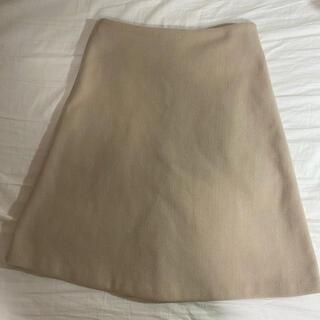 ディーホリック(dholic)の膝丈スカート 厚手 ベージュ DHOLIC(ひざ丈スカート)