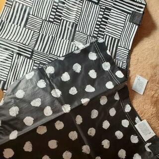 イケア(IKEA)の最安値♪新品イケア♪ SKRUTTIGとFISSLA両方Mサイズのエコバッグ2枚(エコバッグ)