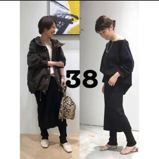 FRAMeWORK - 新作 FRAMeWORK C/PEレギンス付きスカート ブラック38