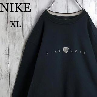 NIKE - 【ビッグシルエット】 ナイキ 刺繍ロゴ スウェット XL 黒