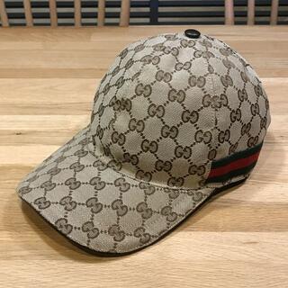 Gucci - 超美品 グッチ 現行 GGキャンバス ベースボールキャップ 野球帽 ユニセックス