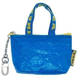 イケア(IKEA)の最安値♪青色 新商品♪IKEA クノーリグ 可愛い ミニバッグ キーホルダー(エコバッグ)