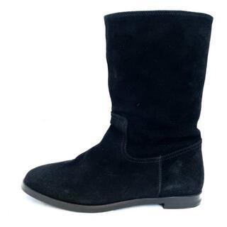 マーガレットハウエル(MARGARET HOWELL)のマーガレットハウエル ショートブーツ - 黒(ブーツ)