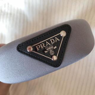 プラダ(PRADA)のまい@SSCラ族様専用♡新品 PRADA カチューシャ Gray グレー(カチューシャ)
