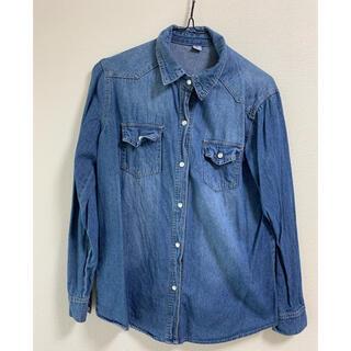 デニムレディースシャツ XL(シャツ/ブラウス(長袖/七分))