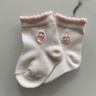 ファミリア(familiar)のファミリア ベビー靴下 新生児 ピンク うさぎ 女の子(靴下/タイツ)