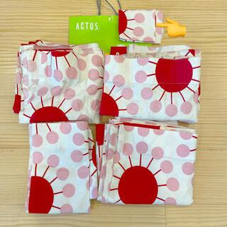 アクタス(ACTUS)の【Hachi様 専用】アクタス 赤×ピンク 北欧風 カーテン 共布 残布 端切れ(カーテン)