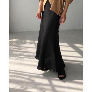 TODAYFUL - Linen Mermaid Skirt  na.e black