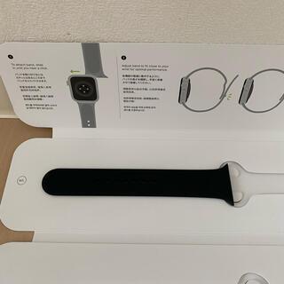 アップルウォッチ(Apple Watch)のApple Watch 40mm ブラックスポーツバンド 片方(ラバーベルト)