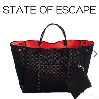 ロンハーマン(Ron Herman)の美品 state of escape バッグ ネイビー コーラル(トートバッグ)