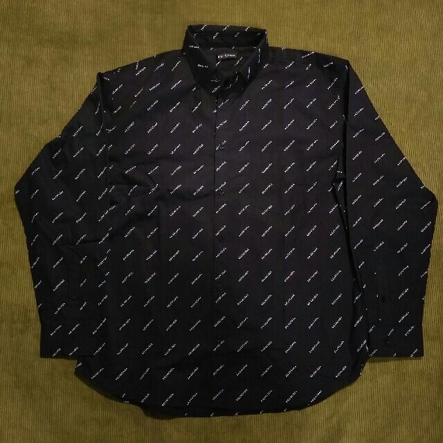 Balenciaga(バレンシアガ)のBALENCIAGAバレンシアガ シャツ ロゴ 黒 メンズのトップス(シャツ)の商品写真