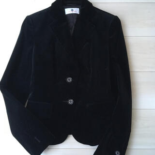 オールドイングランド(OLD ENGLAND)のオールドイングランド 上品スタイル 黒ベロア ジャケット(テーラードジャケット)