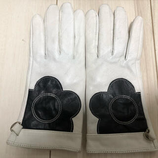 マリークワント(MARY QUANT)の涙の値下げ MARY QUANT 本革白手袋(手袋)