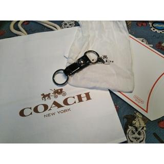 コーチ(COACH)の②COACH コーチ 正規品 キーリング キーホルダー ブラック 新品未使用(キーホルダー)