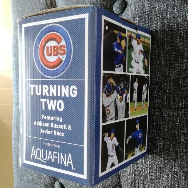 Cubs Addison Russell/Javier Baez ボブルヘッド スポーツ/アウトドアの野球(記念品/関連グッズ)の商品写真
