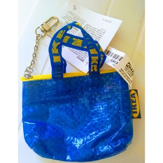 イケア(IKEA)のIKEAフラクタバッグキーホルダー*青色ミニ(ブルーバッグ)クノーリグバッグ1個(エコバッグ)