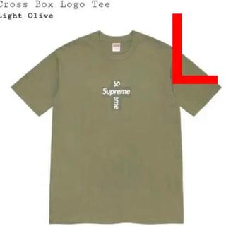Supreme - ★L★Supreme Cross box logo tee LightOlive