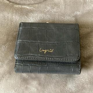 アングリッド(Ungrid)の【Ungrid】二つ折り財布:グレー(財布)