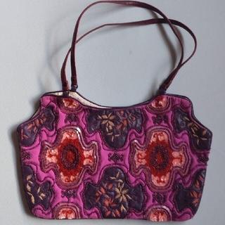 ジャマンピュエッシュ(JAMIN PUECH)のJAMIN PUECH ビーズ刺繍手提げバック(ハンドバッグ)