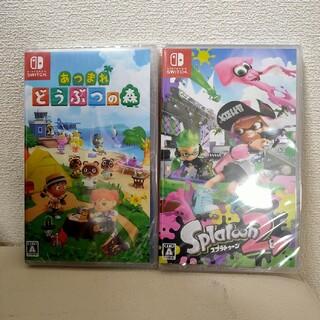 Nintendo Switch - 【新品未開封】あつまれどうぶつの森 & スプラトゥーン2