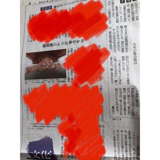 ロッカクアヤコ展の新聞(印刷物)