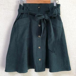 アロー(ARROW)のウエストリボン♡トレンチ風スカート(ミニスカート)