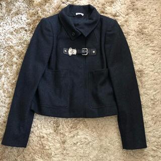 ミュウミュウ(miumiu)の美品❤︎ MIUMIU ミュウミュウ コート ジャケット 36 ダークグレー(その他)